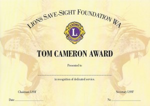 Tom Cameron Award